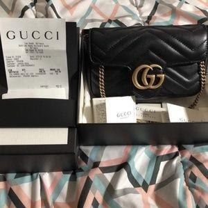Authentic Gucci Super-Mini Marmont Matelasse Bag